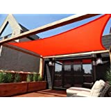 MTN OutdoorGear 18'x18' Deluxe Square Sun Sail Shade (RED) with Hardware