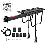 Bike Cargo Rack, Bemods Quick Release Aluminum Alloy 110 Lb Capacity Universal Adjustable Bicycle Rack MTB Bicycle Mountain Stand Footstock Cycling Equipment Rear Rack Seatpost Bag Luggage Carrier wit