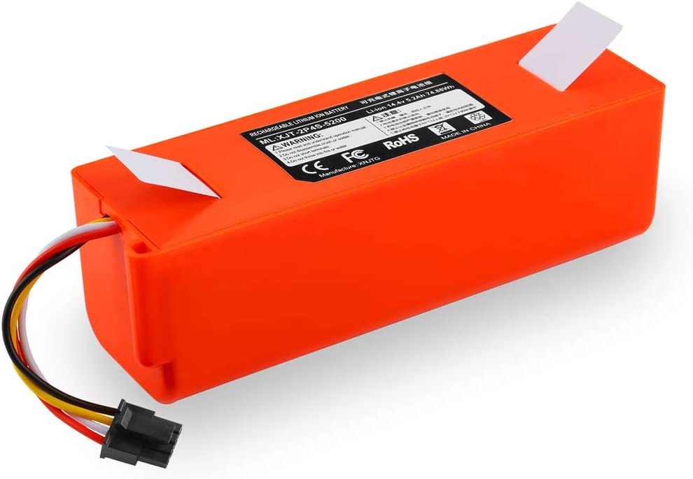 Studyset Vacuum Cleaners Replacement Battery,14.4V Lithium Battery Replacement for XIAOMI Vacuum Cleaner Sweeper Accessories 5200mAh