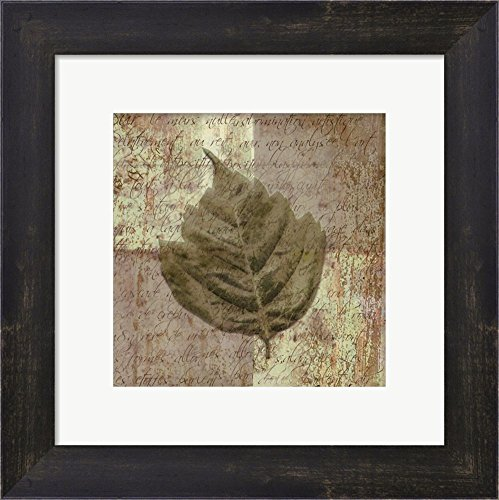 (Leaf Carre IV by Pierre Fortin Framed Art Print Wall Picture, Espresso Brown Frame, 11 x 11 inches)