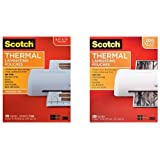 Scotch Thermal Laminating Pouches, 8.9 x 11.4-Inches, 5 mil thick, 100-Pack (TP5854-100) and Scotch Thermal Laminating Pouches, 8.9 x 11.4-Inches, 3 mil thick, 200-Pack (TP3854-200) Bundle
