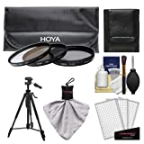 Hoya 77mm 3-Piece Digital Filter Set (HMC UV Ultraviolet, Circular Polarizer & ND8 Neutral Density) with Case + Tripod Kit for Canon, Nikon, Sony, Olympus & Pentax Lenses