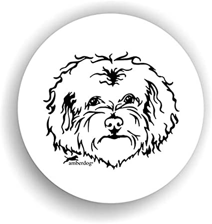 Amberdog Hunde Bolonka Sticker Auto Aufkleber Art Stk0117 Autoaufkleber Aufkleber Wohnmobil Wohnwagen Küche Haushalt