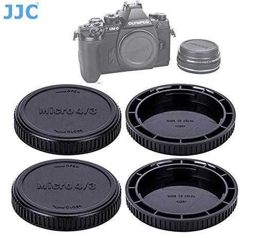 (2 Packs) JJC M43 Lens Cap Body Cap, Micro 4/3 Rear Lens Cover Camera Body Cap, MFT Caps for Olympus / Panasonic Micro 4/3 M43 Mirrorless Cameras
