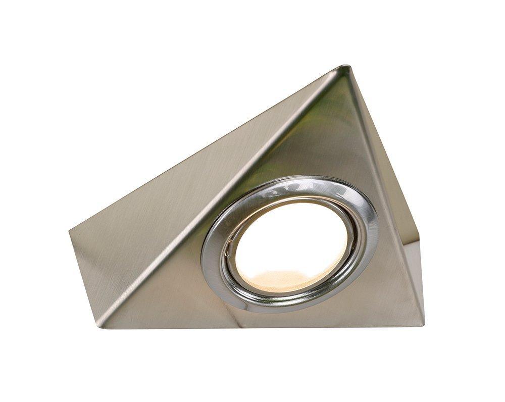 Tri Cabinet Triangle Under Cabinet Light In Satin Nickel: Amazon.co.uk:  Lighting