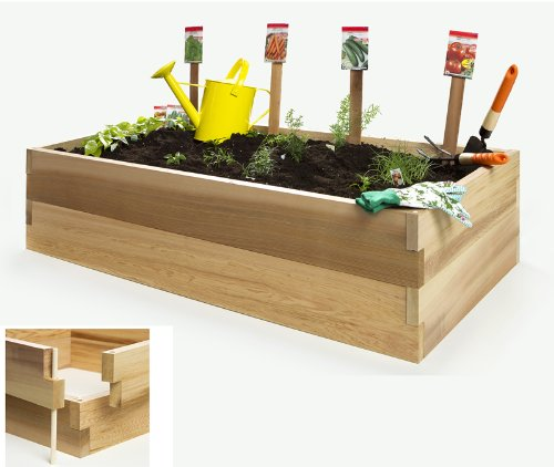 All Things Cedar Vegetable Box Double Raised Garden Bed, 4'