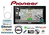 Pioneer AVIC-7100NEX In Dash Double Din 7'' DVD CD Navigation Receiver and a Lightening to USB Adapter with a FREE SOTS Air Freshener