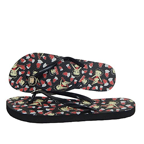 Betty Boop Femmes Flip Flop Sandale Thong Betty Boop Coeurs Et Amour