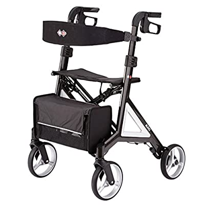 B+B Alevo Carbon Walker Rollator designed by Porsche Design Studio foldable and with comfort seat