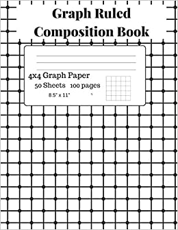 graph ruled composition book graph paper composition notebook grid