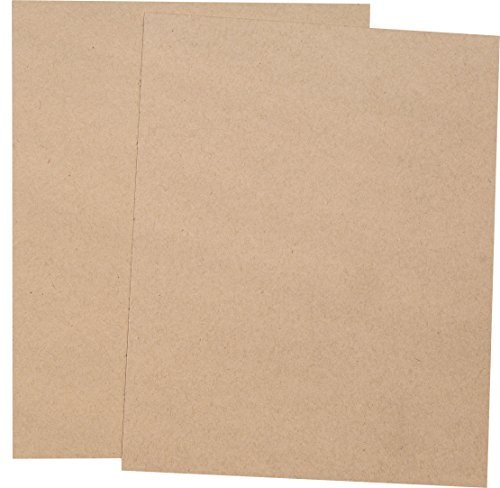 Basic Fiber Kraft 8-1/2-x-11 Speckle Fiber Cardstock Paper 100-pk -- 270 GSM (100lb Cover) PaperPapers Letter size Card Stock Paper - Business, Card Making, Designers, Professional and DIY Projects (100 Lb Cover Paper)