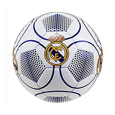 Real Madrid Balón de fútbol, número 3, Color Blanco, Talla 5 ...