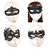 October Elf Women Party Masquerade Costume Bar Lace Soft Eye Mask 4pcs (1)