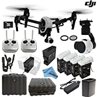 DJI Inspire 1 Version 2.0 w/ eDigitalUSA Customer Choice Package: Includes 2 Controllers, Extra TB47 Battery & 2 Spare TB48 Batteries, Battery Heater, Charging Hub and more...