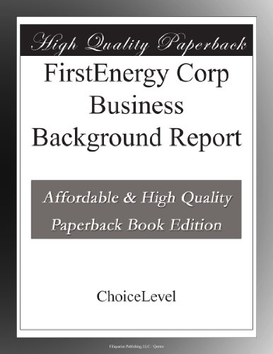 firstenergy-corp-business-background-report