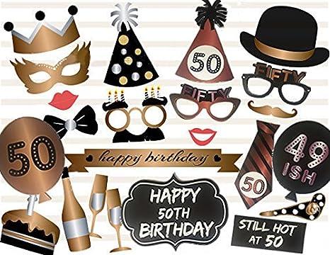 Amazon.com: Losuya fotos de 50o cumpleaños Booth props 23 ...