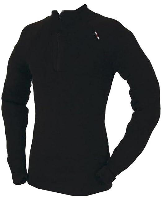 Ussen - Camiseta térmica - Básico - para Hombre Negro Negro Small