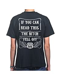 If You Can Read This The Bitch Fell Off Funny Bikers T-shirt