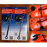 2-Pack SOLID CLOSED SCREW CAPS w/ GASKET & TETHER Gas Diesel Kerosene fits Scepter Ameri-Can Midwest 8600,8500,7600,6600,6119,5800,5600,2600,2300,2200,1200,1100 Eagle PG & KP Series (CAN NOT INCLUDED)