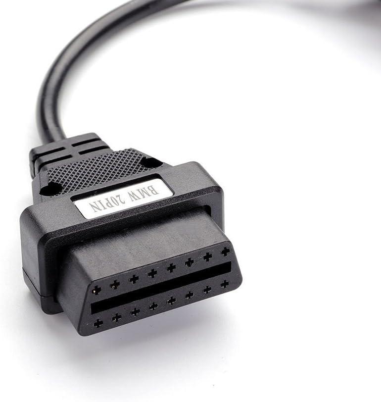 bbfly-M1 C/âble adapteur pour scanneur de diagnostic BMW OBD2-20 broches pour BMW E36 E38 E39 46/E53/X5/Z3