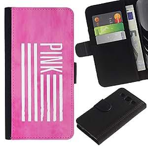 A-type (Pink America Flag Deep Meaning Use) Colorida Impresión Funda Cuero Monedero Caja Bolsa Cubierta Caja Piel Card Slots Para Samsung Galaxy S3 III I9300