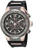 GV2 by Gevril Men's 8202 Novara Analog Display Swiss Quartz Black Watch