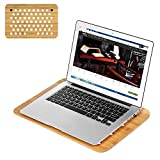 SAMDI Laptop Cooling Pad, Bamboo Wood Laptop Cooling Mount Stand for All Laptops