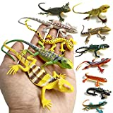 12pcs 5 Inch Colorful Fake Lizards Action FigureMini Rubber Lizard Set for Reptile Party Supplies Toy,12 Assorted Plastic PVC Toy Lizards