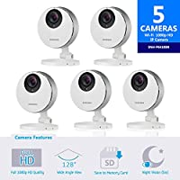Samsung SmartCam HD Pro SNH-P6410BN Full HD 1080p WiFi Camera Bundle Five Pack