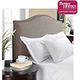 Better Homes and Gardens Grayson Linen Headboard with Nailheads, (Full/Queen, Gray)