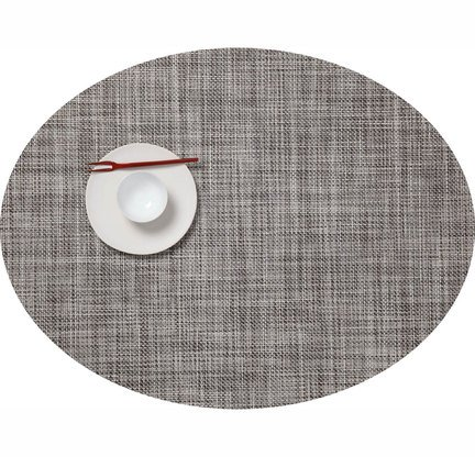 Mini Basketweave Set of 4 Oval Tablemats by Chilewich : R277