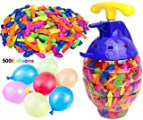 Kiddie Play Water Balloons for Kids with Filler Pump (500 Balloons)