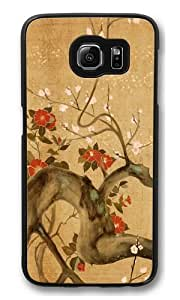 Samsung Galaxy S6 Case and Cover -Cherry Tree Artistic PC Hard Plastic Case for Samsung S6/Samsung Galaxy S6 Black