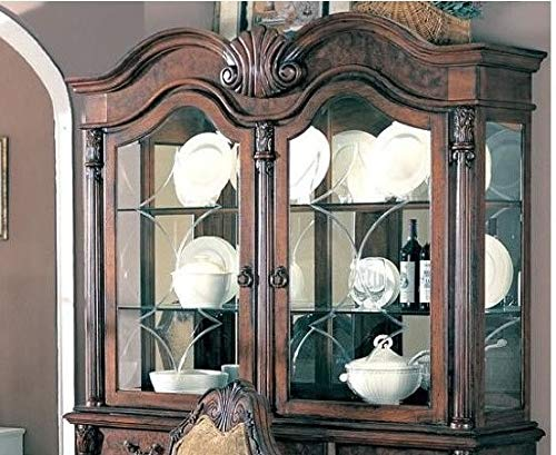 Coaster Home Furnishings Saint Charles 2-Door Hutch Antique Brown and Clear - Hutch Ash Room Dining