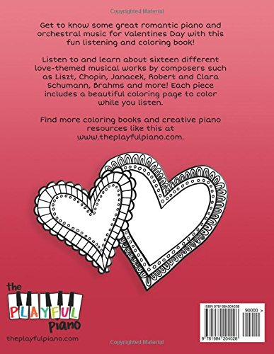 Valentines Day Shades Of Sound A Listening Coloring Book For Pianists Jennifer Boster 9781984204028 Amazon Books