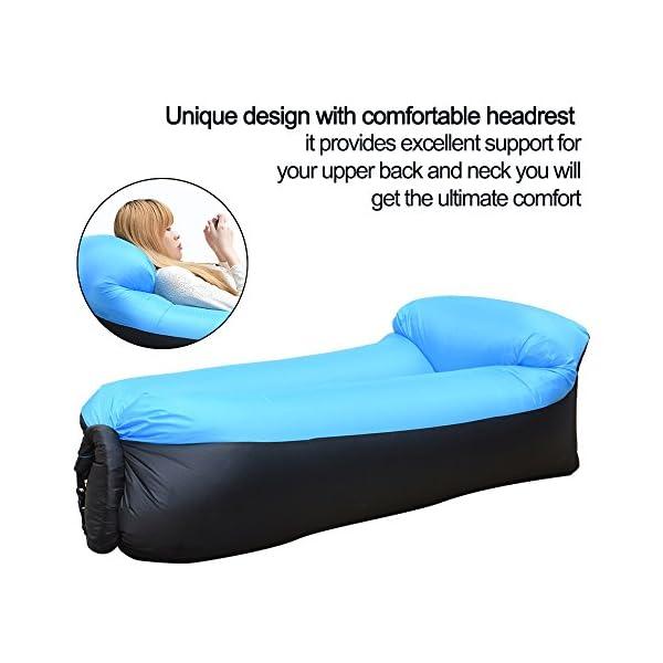 51L AkZQkCL IREGRO Aufblasbares Sofa, Wasserdichter Aufblasbares Liege, Luftsofa Luftsack, Tragbares Air Lounger, Luftsack Sitzsack…