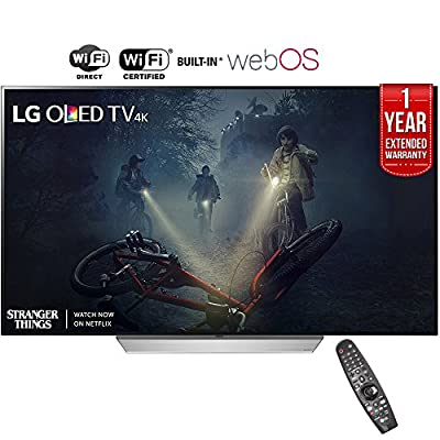 "LG OLED65C7P - 65"" C7 OLED 4K HDR Smart TV (2017 Model)+ 1 Year Extended Warranty (Certified Refurbished)"