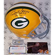 Bart Starr Autographed Hand Signed Green Bay Packers Throwback Full Size Authentic Football Helmet - with MVP SB I,II & HOF 77 Inscriptions - PSA/DNA