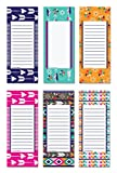 6 Magnetic Notepads - Tribal Series - 6 Different Designs on 3.5'...