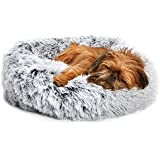 Barkbox 2-in-1 Memory Foam Donut Cuddler Dog Bed | Orthopedic Joint Relief Fur Crate Lounger for Dogs and Cats, Machine…