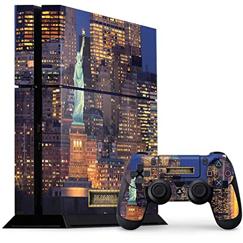 Scenic Cities PS4 Console and Controller Bundle Skin - New York City Statue of Liberty and New York Skyline | Photography X Skinit Skin