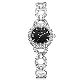 Relojes para Mujer Señoras de Las Mujeres Adolescentes Elegante Vestido de Moda Pulsera de Diamantes de imitación Muñeca Casual Simple Reloj de Pulsera ...