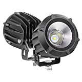 LED Pods, Auto Power Plus 2PCS 3' 50W Round Off Road Driving Light CREE LED Work Light Spot Flood Combo Light Round LED Pod Light for Off Road Truck Motorcycle Jeep ATV Boat Tractor, 3 Yrs Warranty