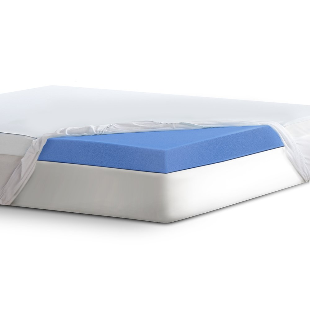 "Serta 4"" Lasting Dream Ultra Gel-Infused Memory Foam Mattress Topper, Twin"