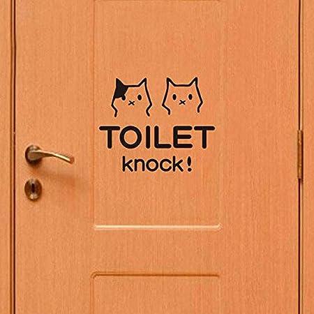 Calli baño Lindo Gato Aseo Pared Impermeable Etiqueta ...