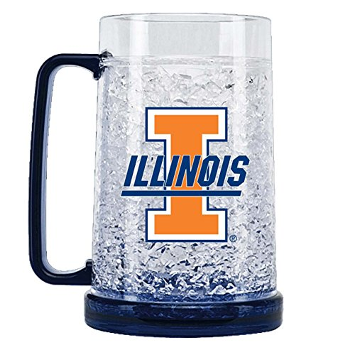 NCAA Illinois Fighting Illini 16oz Crystal Freezer Mug