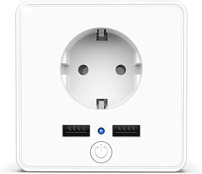 Enchufe Inteligente Wifi con 2 USB 3.4A, Toma de Corriente Funciona con Amazon Alexa, Echo, Google Home, Smart Plug de Temporizador Control Remoto por APP: Amazon.es: Bricolaje y herramientas