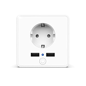 Enchufe Inteligente Wifi con 2 USB 3.4A, Toma de Corriente ...