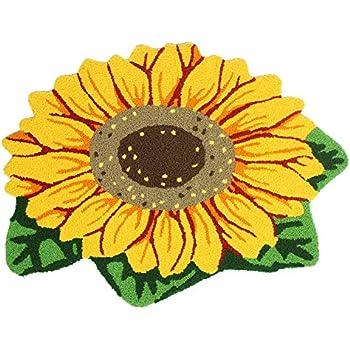 Amazon Com Ustide Sunflower Floral Shaped Doormat