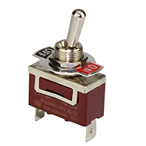 DaierTek 2Pcs SPST Toggle Switch PC Terminal ON Off Heavy Duty Rocker Switch 2 Pin ON Off 20A 125VAC/15A 250VAC Spade Terminal